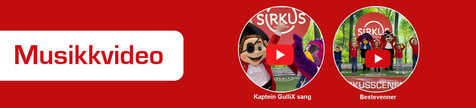 Sirkus Shopping Kaptein GulliX og papegøyen. Maskoter med eget show og dans. Lær dans via instruksjon video. Maskotene kan du møte på arrangementer på Sirkus og andre arrangementer i Trondheim.
